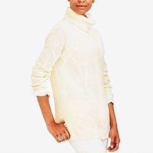 NWT J. Crew Off White Textured Turtleneck Sweater